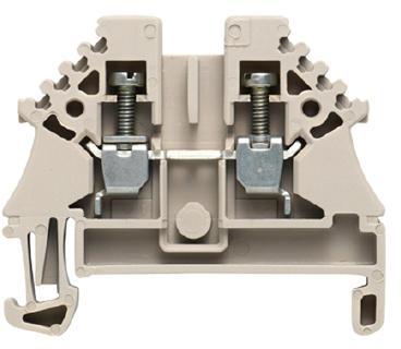 Weidmuller, W-series, rijgklem, max. 2.5 mm², schroefmontage, beige